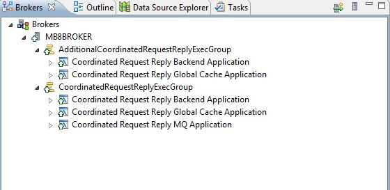 Figure 8 - Check that the applications are deployed to the Execution Groups