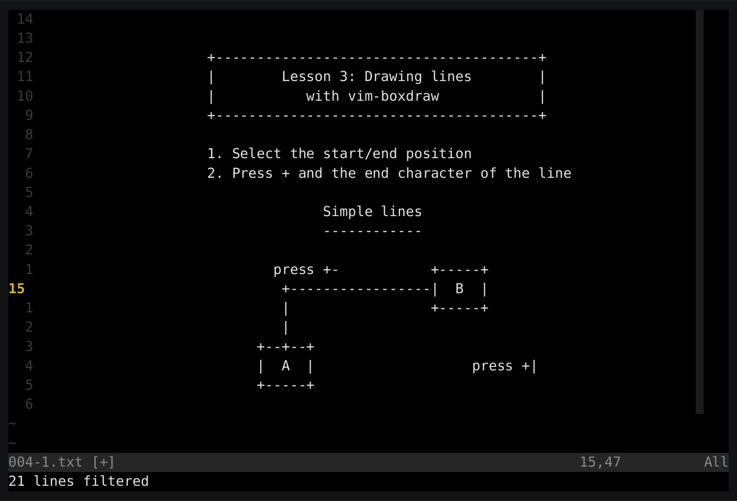 Drawing Lines Xcode : Github gyim vim boxdraw an ascii box drawing plugin for