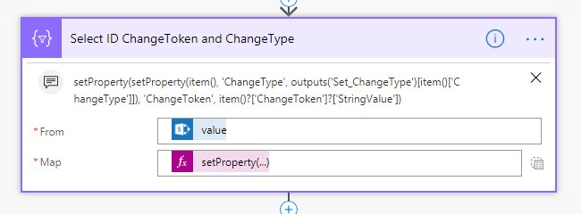 Select ID ChangeToken and ChangeType