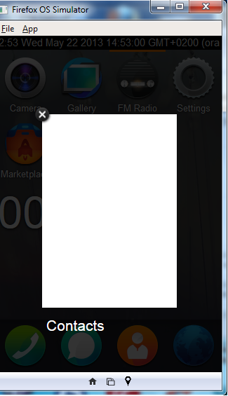 under windows 7 i have a white screen when i open the phone book