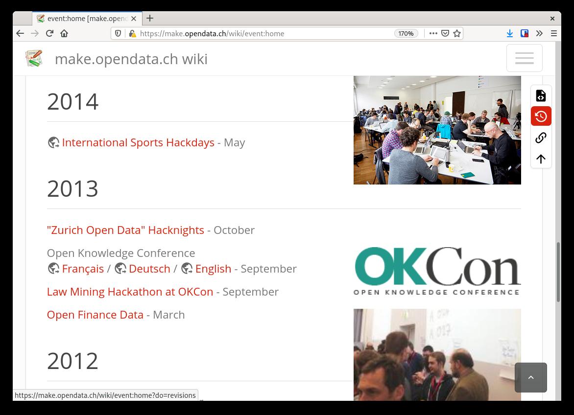 Screenshot of the make.opendata wiki