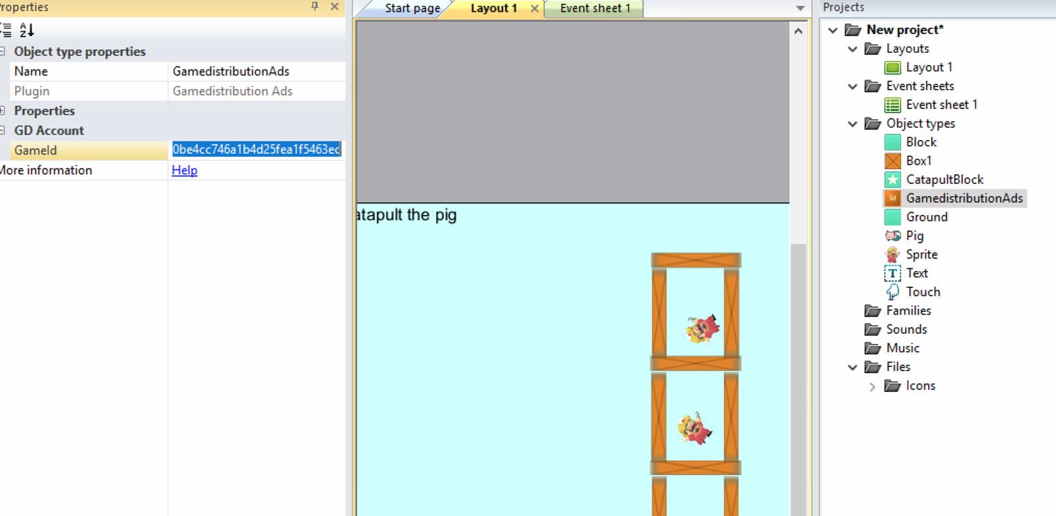 Gamedistribution com HTML5 SDK for Construct 2