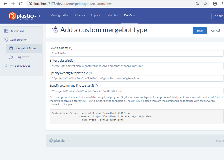 Plastc DevOps - Configure custom mergebot type