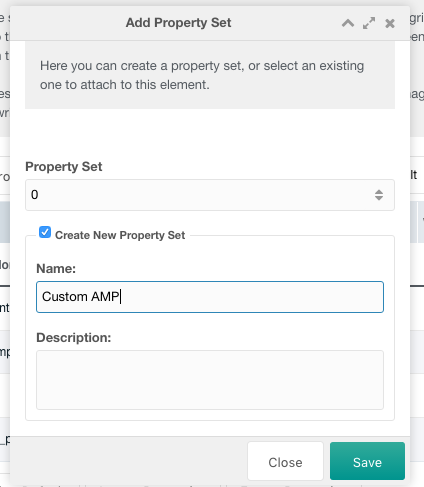 Add Property Set Window