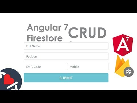 Video Tutorial for Angular 7 CRUD with Firestore