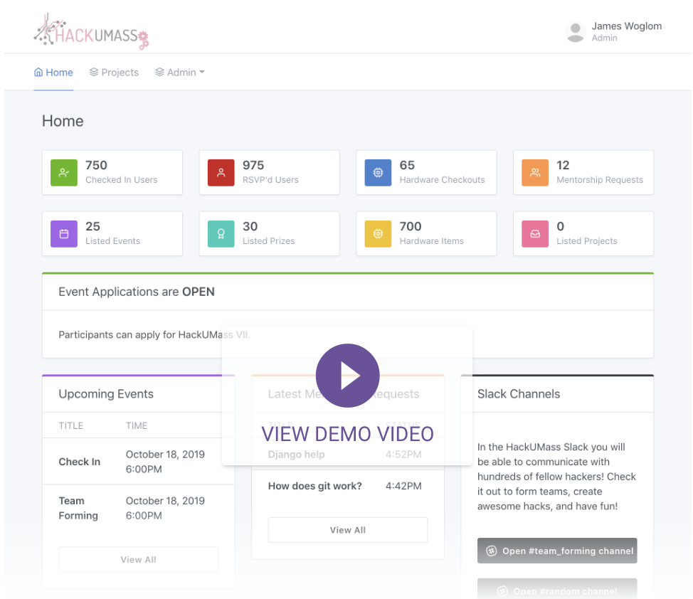 Dashboard Demo Video
