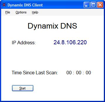 Dynamix DNS Client for Windows Screenshot