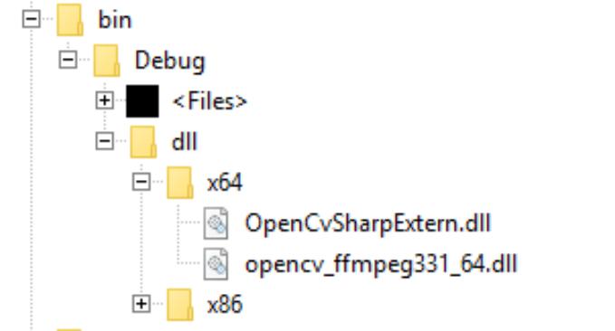 OpenCvSharp4 Windows Unable to load DLL 'OpenCvSharpExtern' · Issue