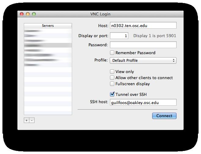 Connect to VNC through SSH Tunnel · AweSim-OSC/documentation