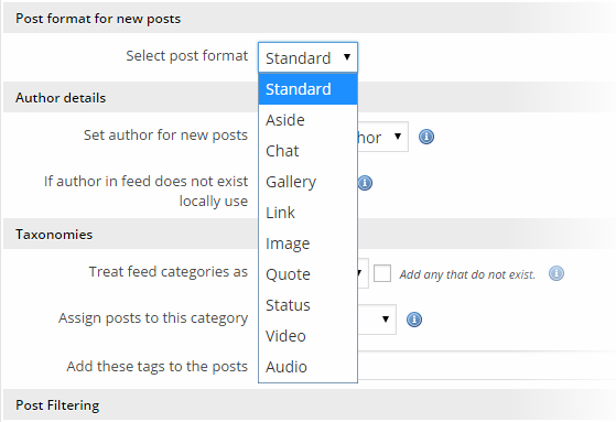 Autoblog - Post Format add-on