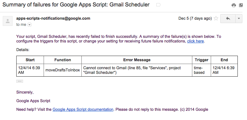 ErrorWithGmail
