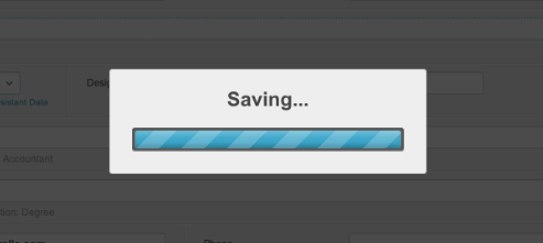 Saving Overlay