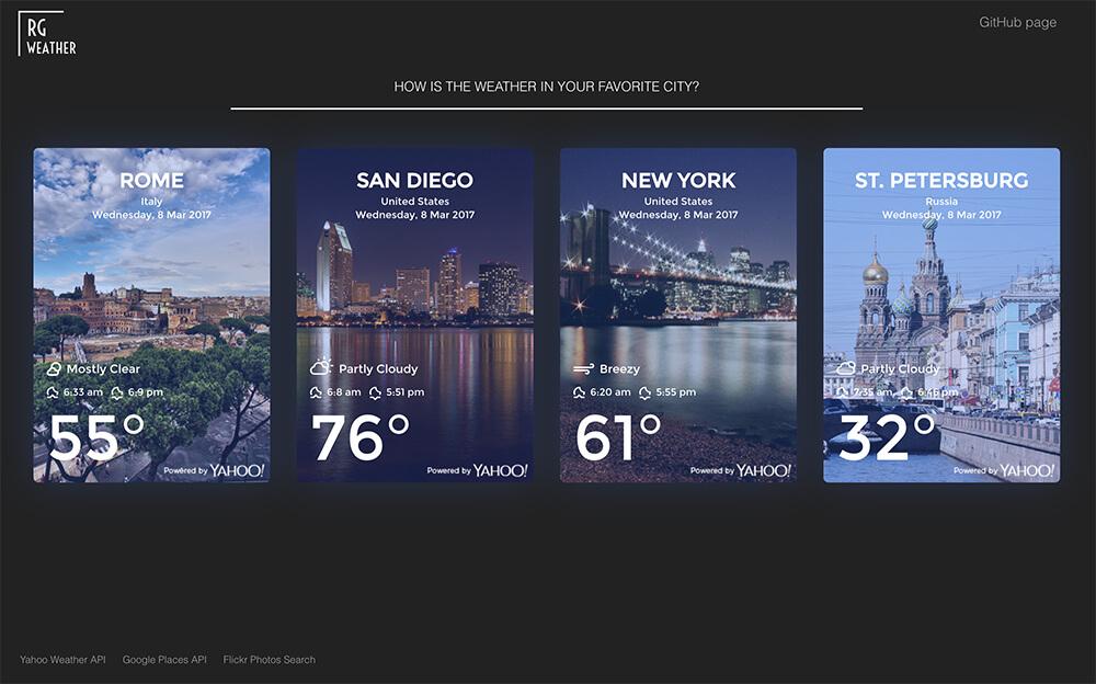 GitHub - rg-galieva/rg-weather-app: [React, Redux, Yahoo