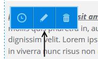 Edit content icon