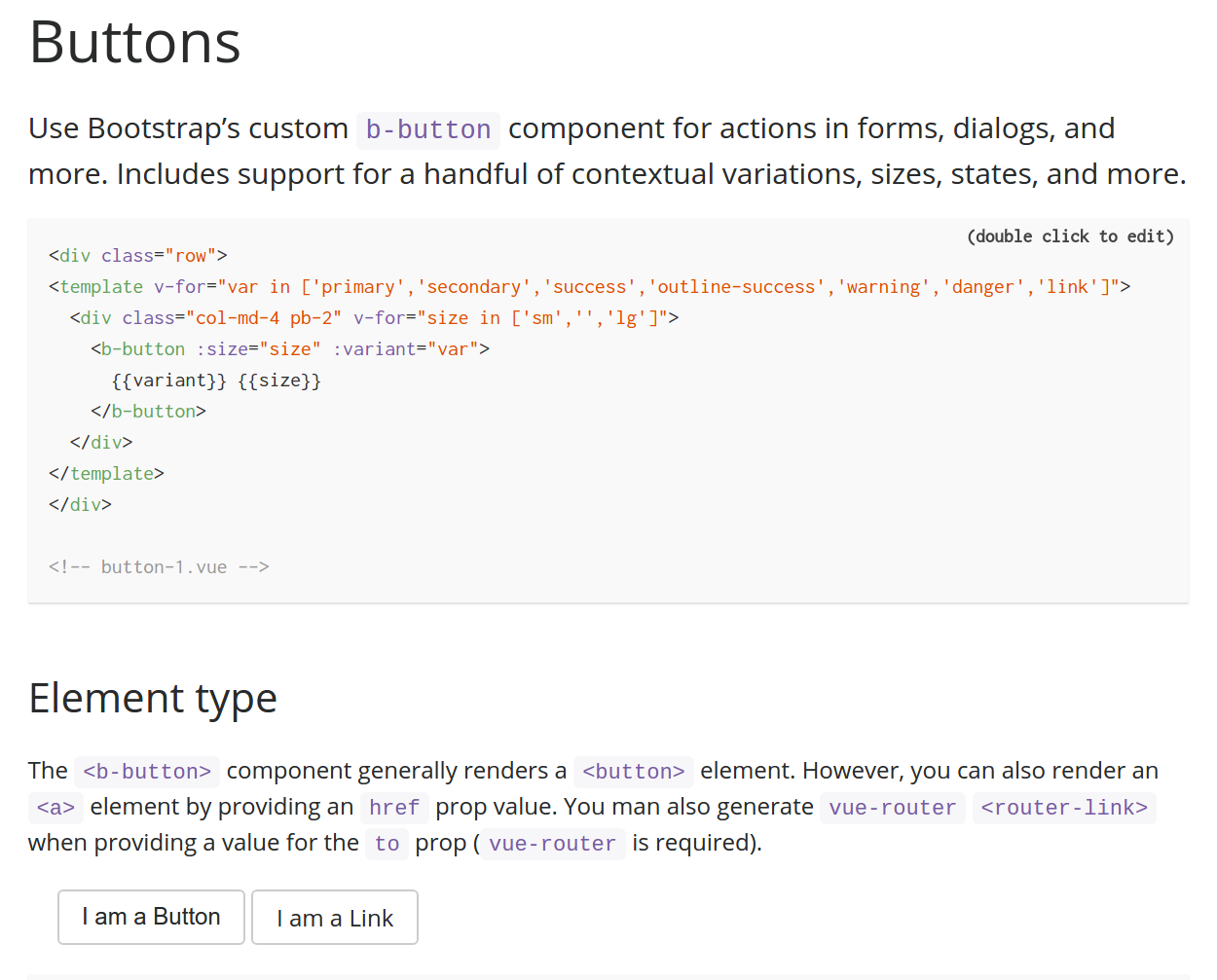 Docs - button example not rendering · Issue #802 · bootstrap
