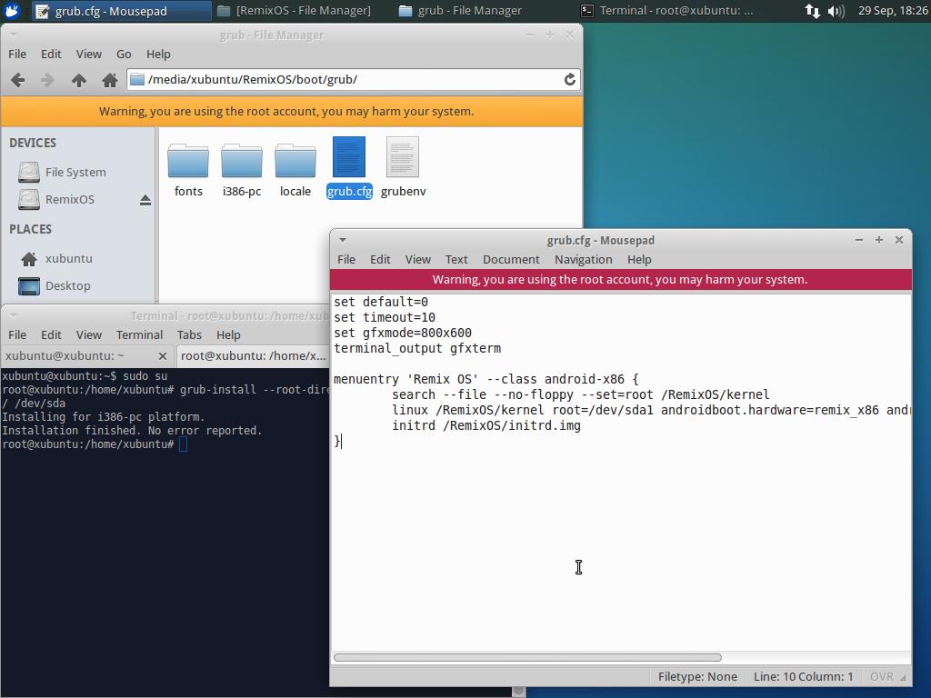 install bootloader