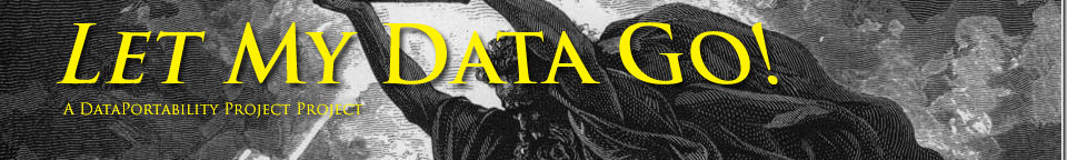 Let My Data Go! banner featuring engraving of Moses holding tablets aloft