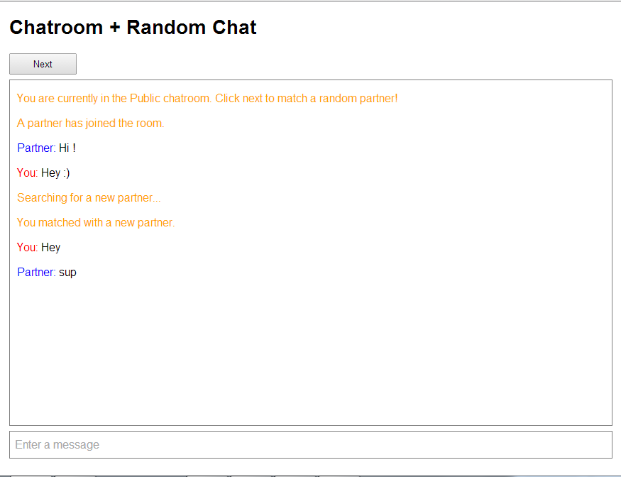 match chat room
