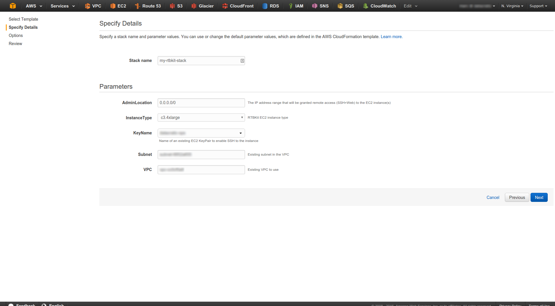 How to launch the demo stack with the AWS CloudFormation Template