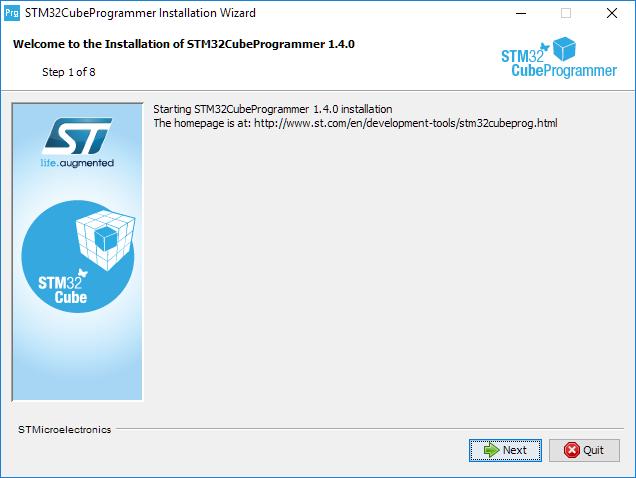 Install programmer step 1