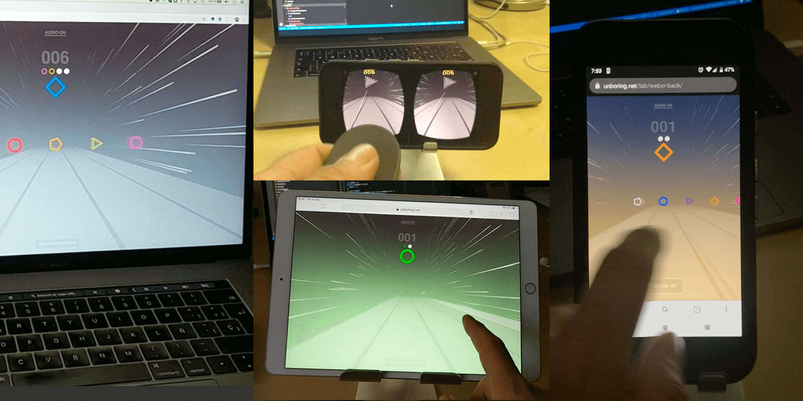 How it works on Desktop/iOS/Android/WebXR