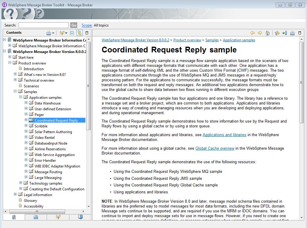 """Figure 5 - Choose the """"Coordinated Request Reply sample"""""""