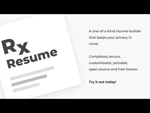 Demo Video of Reactive Resume
