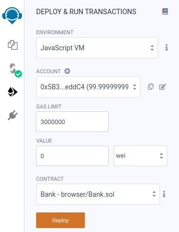 Bank smart contract using Solidity - 使用Solidity的银行智能合约