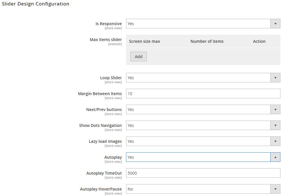 slider design configuration