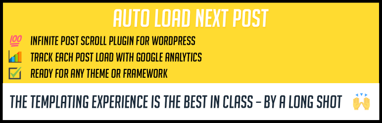 Auto Load Next Post, Infinite post scroll for WordPress