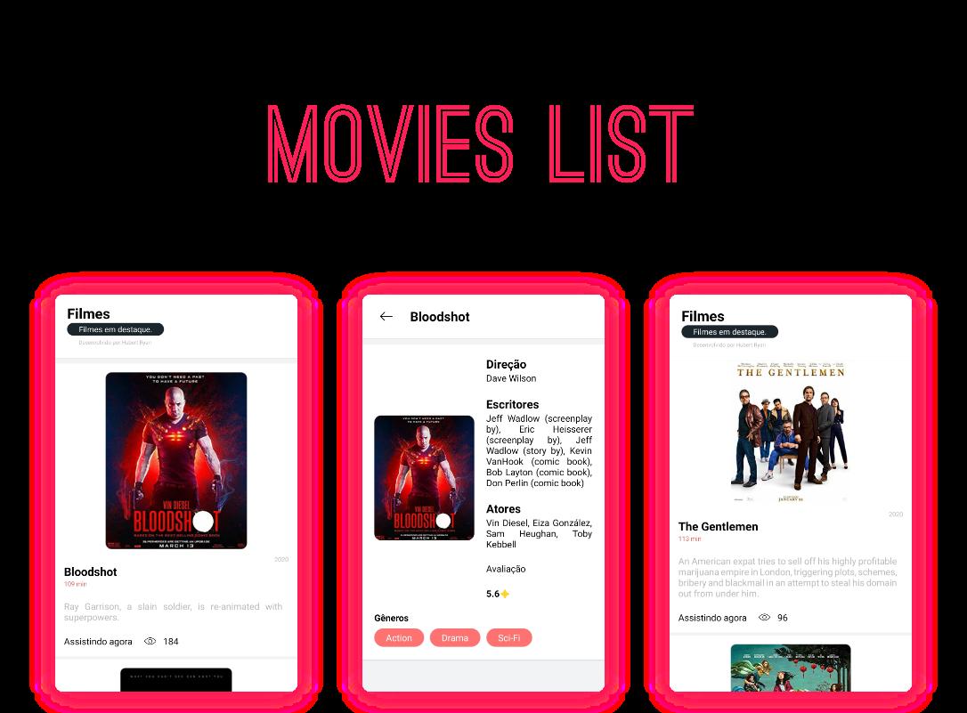Movie List Hubert Ryan