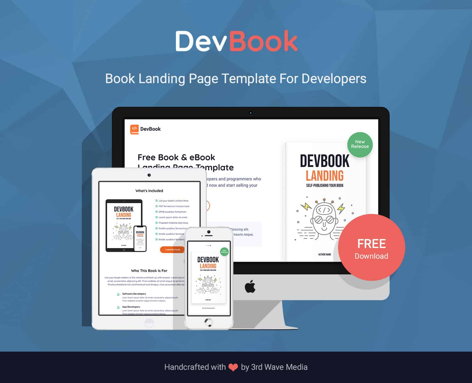 DevBook - Bootstrap Book and eBook Landing Page Template For Developers