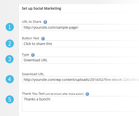 Social Marketing Add New Configure
