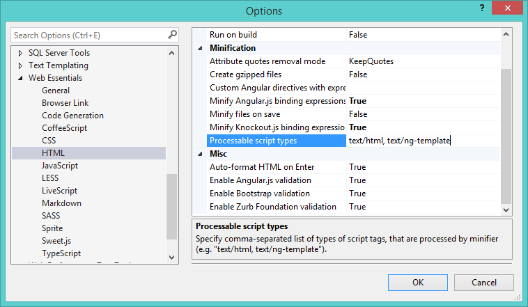 Html not being minified by bundling when script typetextng we html minification settings pronofoot35fo Gallery