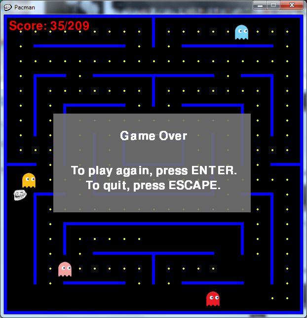 Pacman Game Window