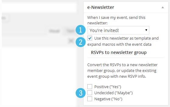 Events e-Newsletter integration