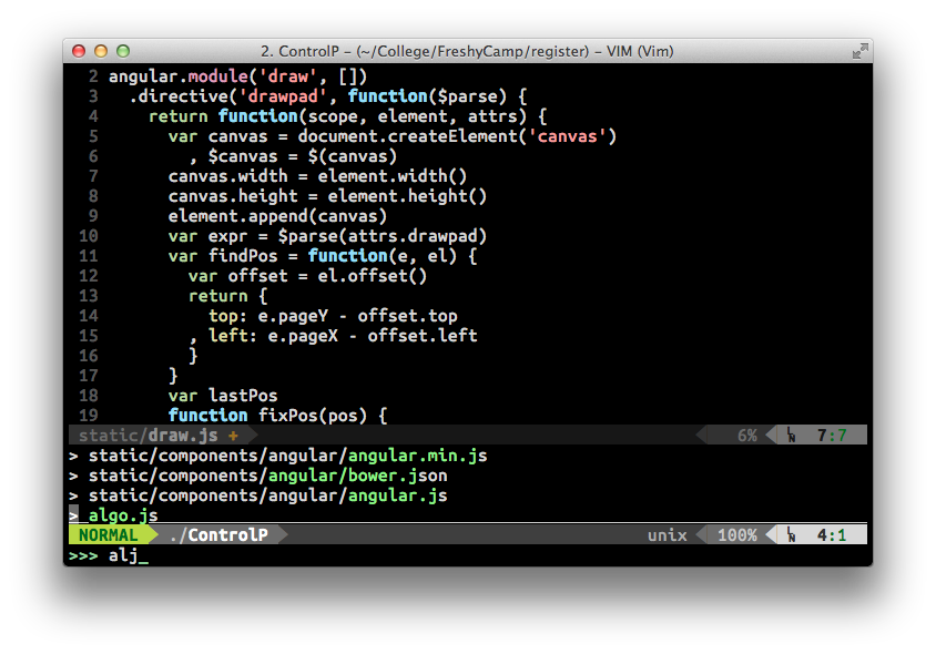 CtrlP Theme Screenshot