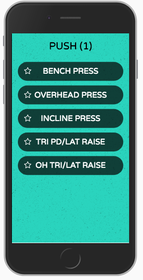 App front page