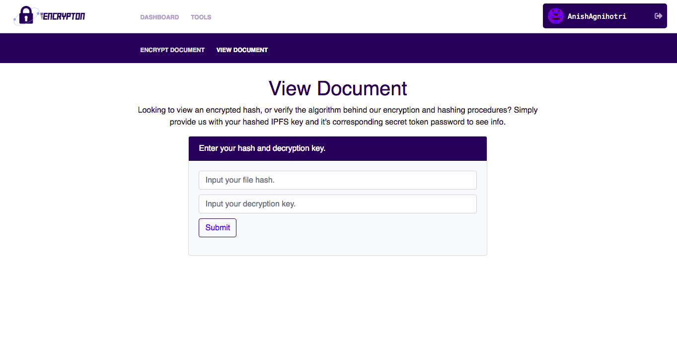 View Encrypted Documents