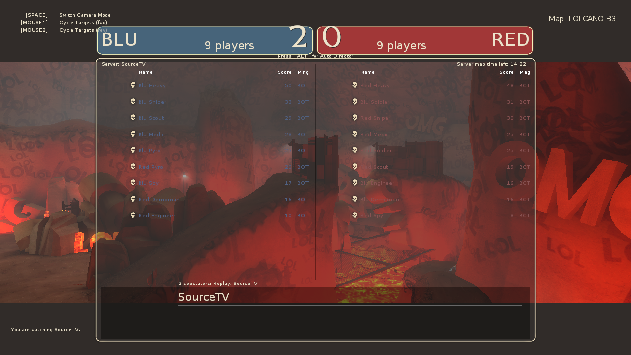 TF2 Beta] Bots refuse to spawn after two rounds of Highlander King