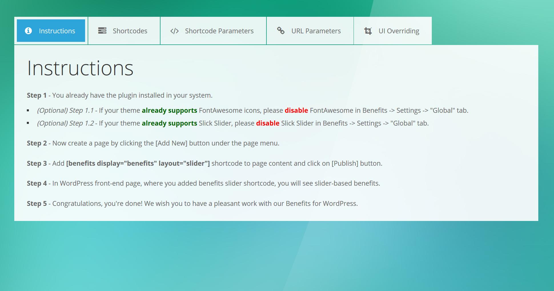 8. Benefits - Admin User Manual