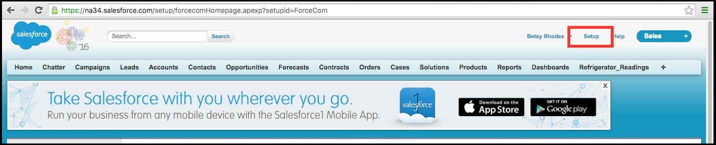Salesforce Navbar