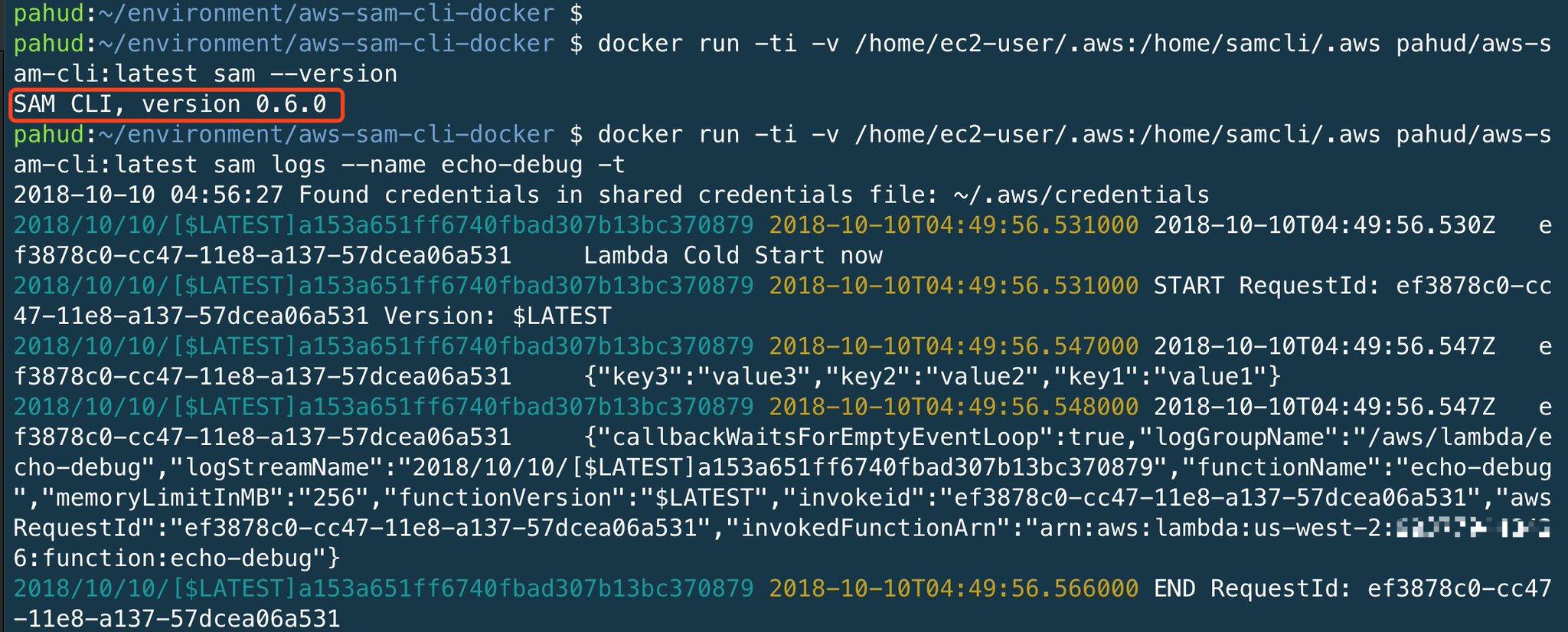 GitHub - pahud/sam-cli-docker: Docker image for AWS SAM CLI