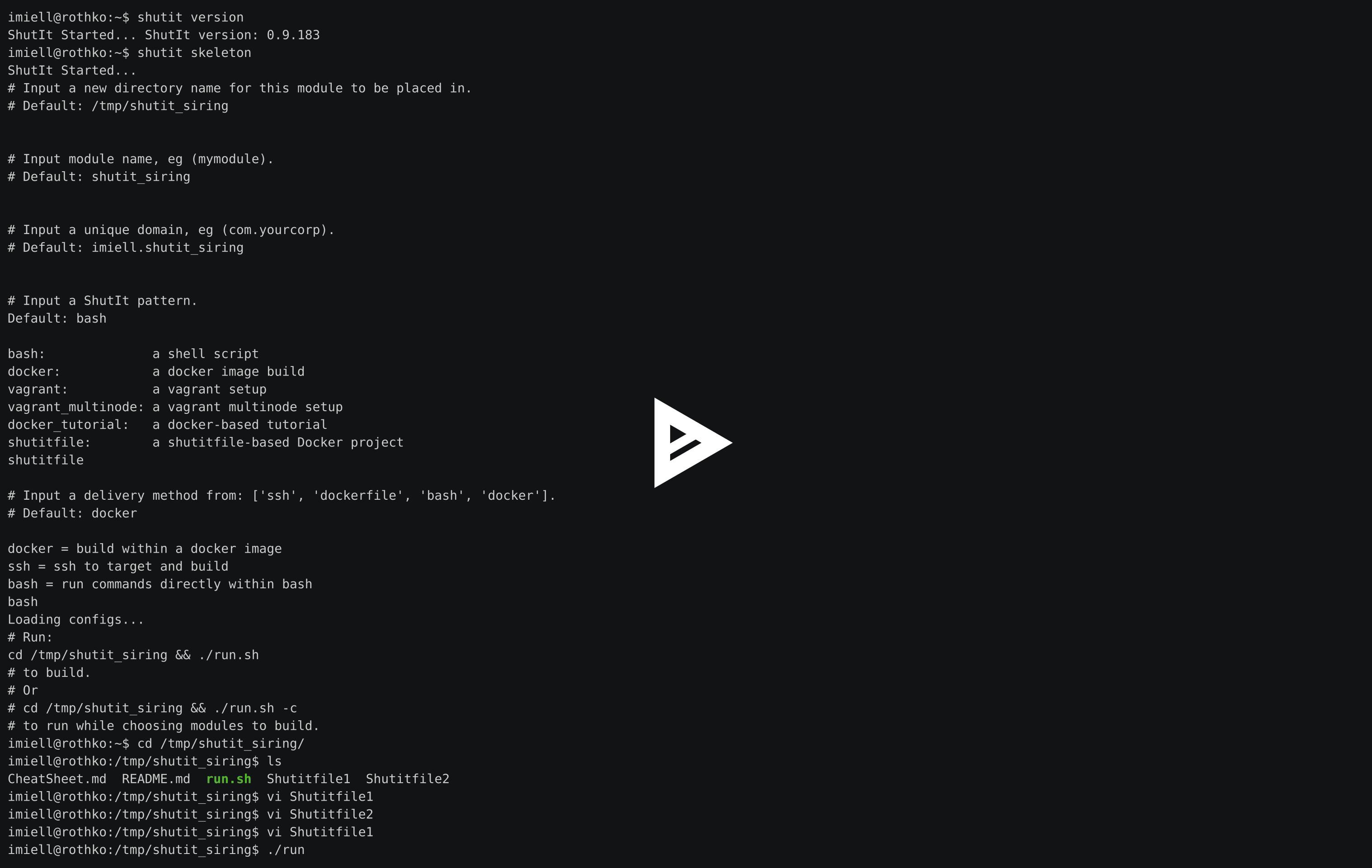 asciicast of above script