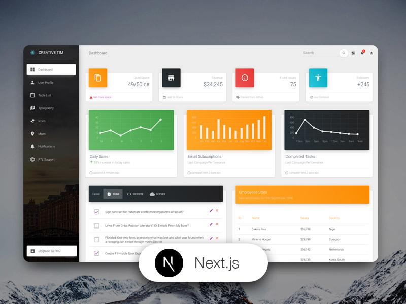 Nextjs Material Dashboard