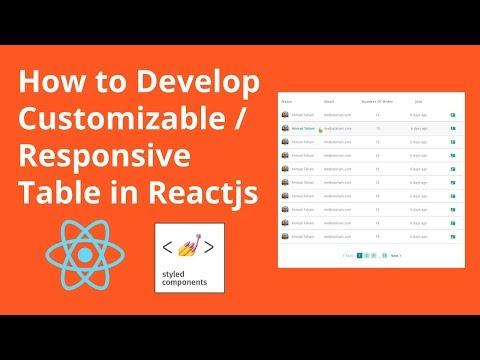 GitHub - atahani/styled-table: Customizable / Responsive