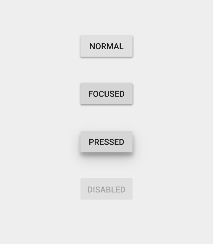 Material Design кнопки серые стандартные