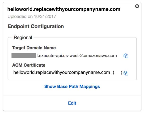 API Gateway Screenshot
