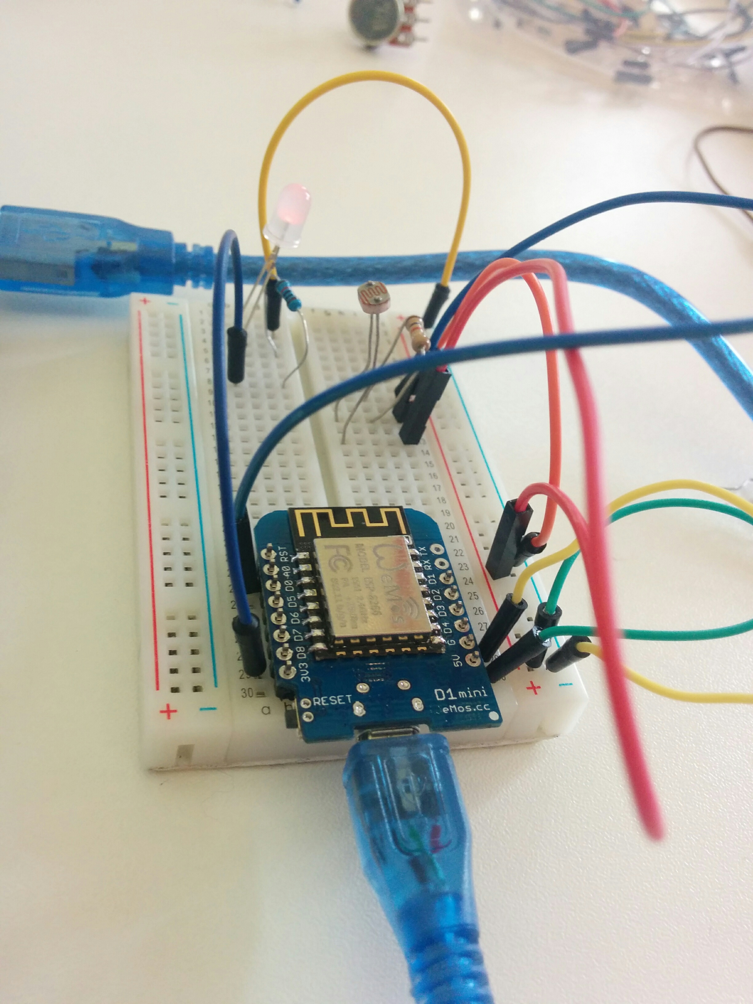 Github Dennis Van Bennekom Minor Iot For Sound Sensor Alarm This Is The Circuit Make Sure Or Ldr Connected To A0 Input And Led With D8 Output