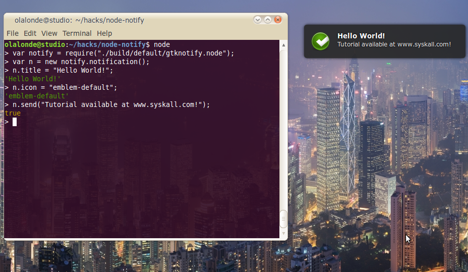 node-notify screenshot